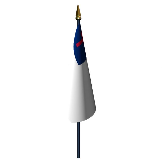 Christian Flag with Staff and Spear