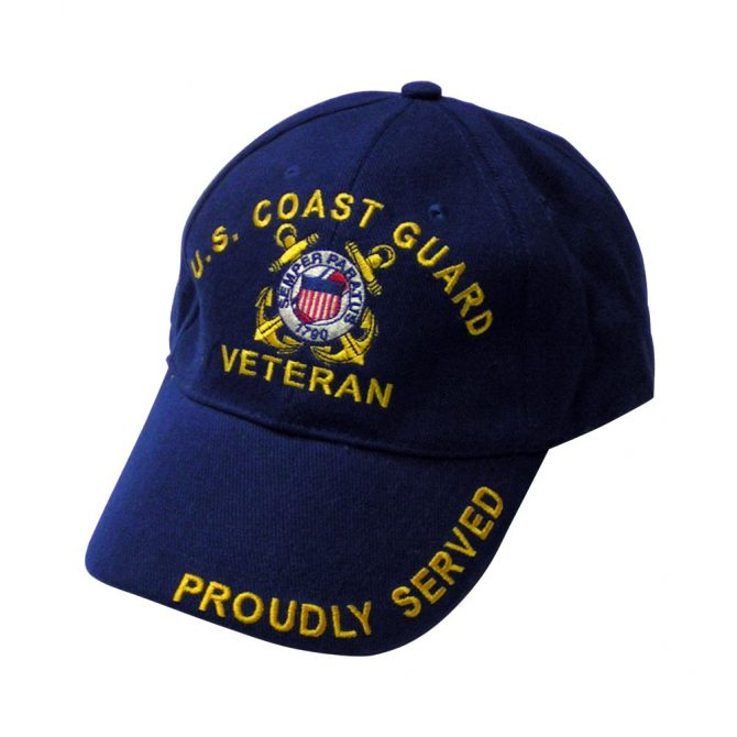 Coast Guard Veteran Embroidered Hat