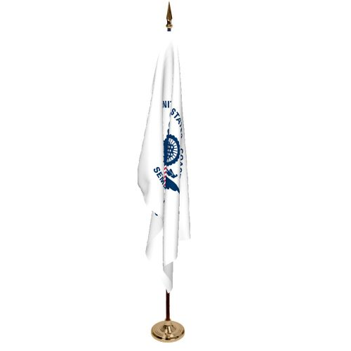 Indoor Coast Guard Ceremonial Flag Set