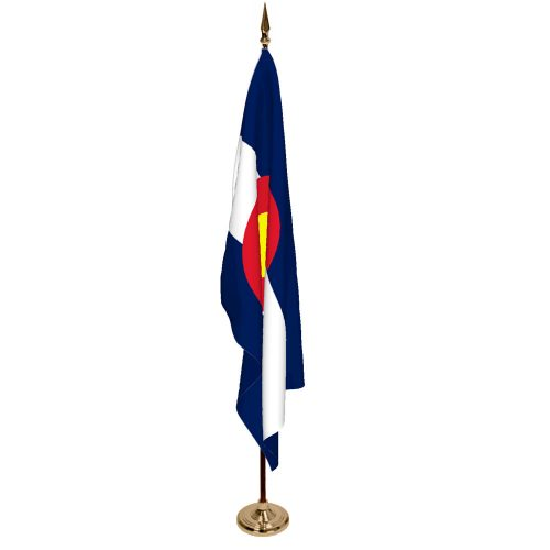 Indoor Colorado Ceremonial Flag Set