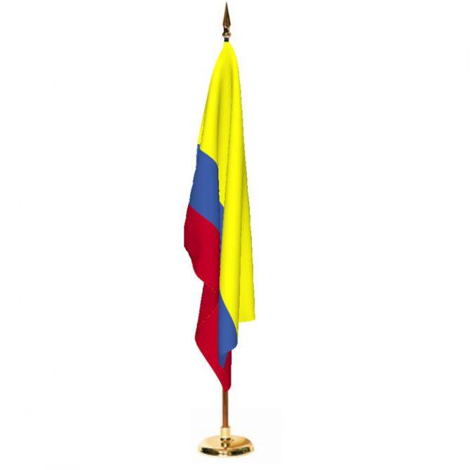Indoor Colombia Ceremonial Flag Set