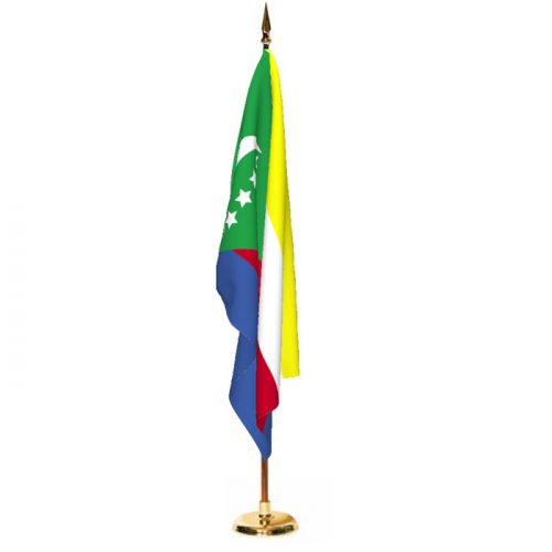 Indoor Comoros Ceremonial Flag Set