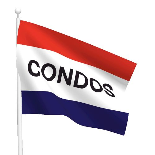 3ft x 5ft Condos Message Flag