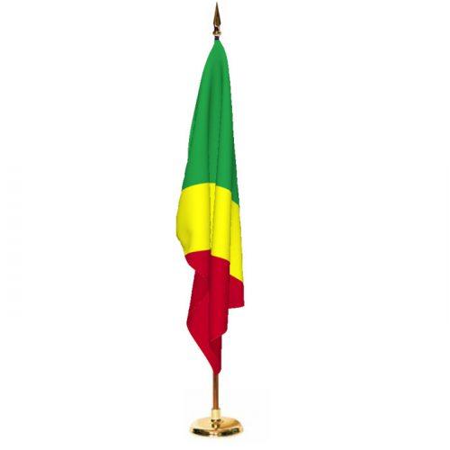 Indoor Congo Republic Ceremonial Flag Set