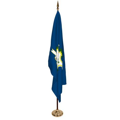 Indoor Connecticut Ceremonial Flag Set