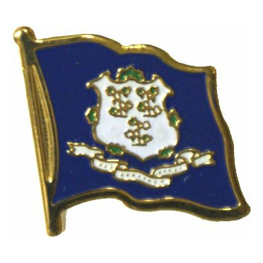Connecticut Flag Lapel Pin