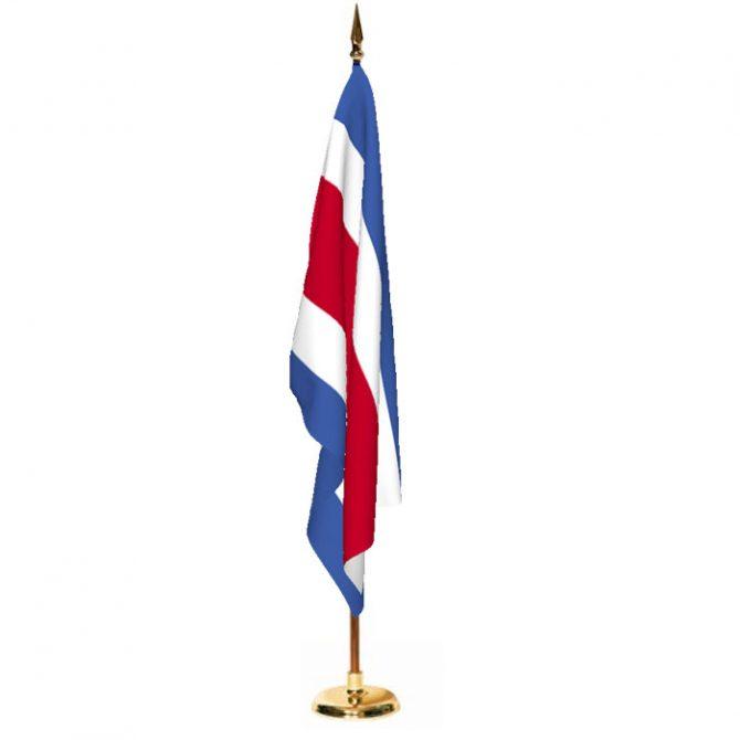 Indoor Costa Rica Ceremonial Flag Set