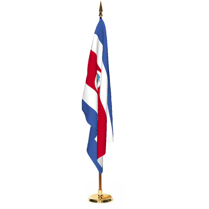 Indoor Costa Rica with Seal Ceremonial Flag Set