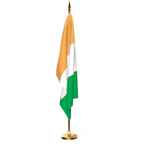 Indoor Cote D'ivoire Ceremonial Flag