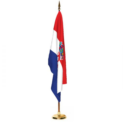 Indoor Croatia Ceremonial Flag Set