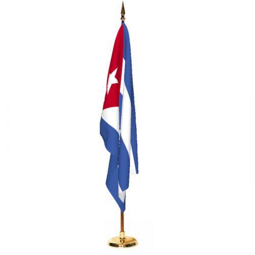 Indoor Cuba Ceremonial Flag Set