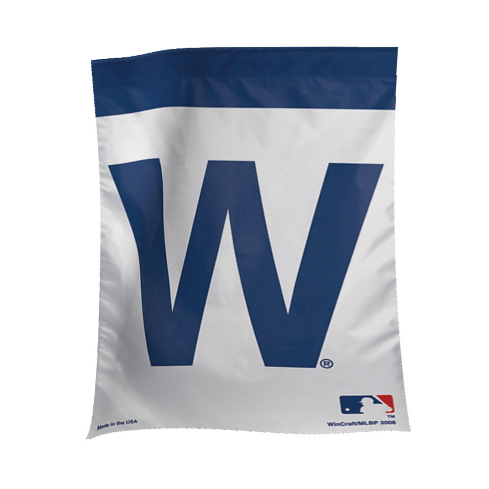 image relating to Printable Cubs W Flag identified as Chicago Cubs W Yard Flag - Back garden Determination