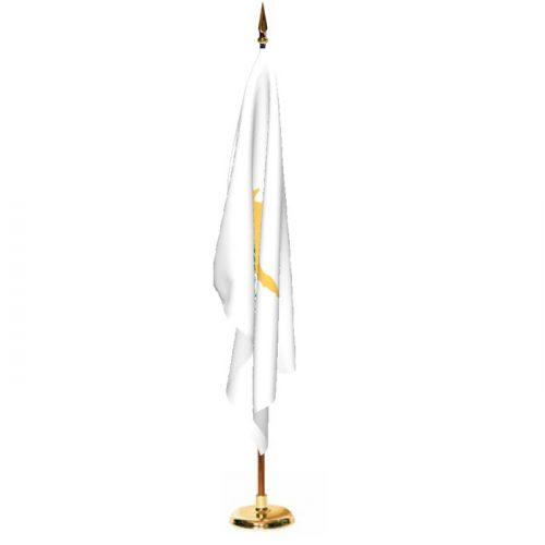 Indoor Cyprus Ceremonial Flag Set