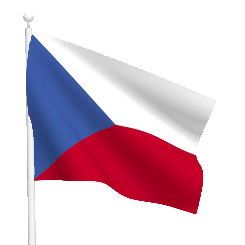 Polyester Czech Republic Flag Light Duty