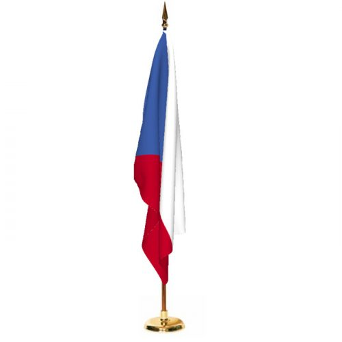 Indoor Czech Republic Ceremonial Flag Set