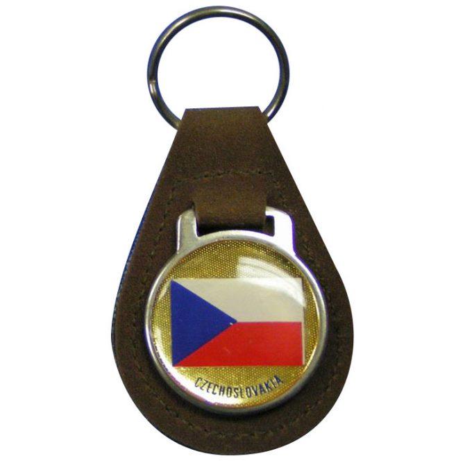 Czechoslovakia Leather Keychain