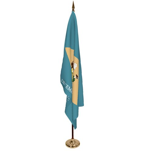 Indoor Delaware Ceremonial Flag Set