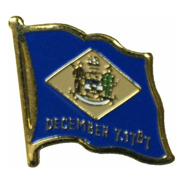 Delaware Flag Lapel Pin