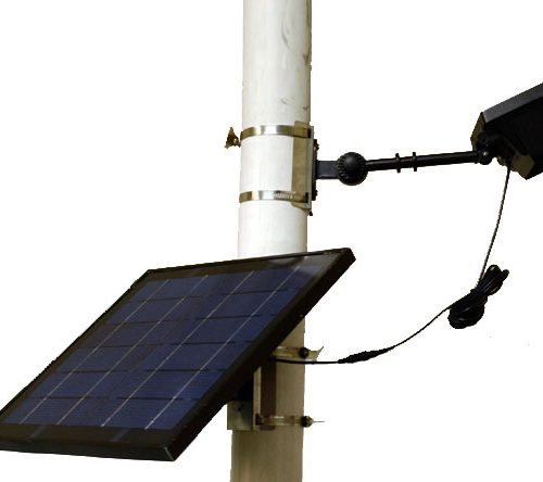 Deluxe Commercial Solar Flagpole Light