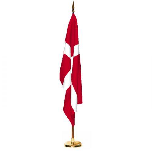 Indoor Denmark Ceremonial Flag Set