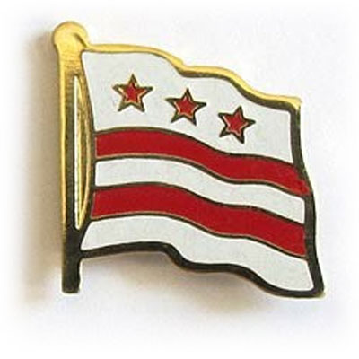 District of Columbia Flag Lapel Pin
