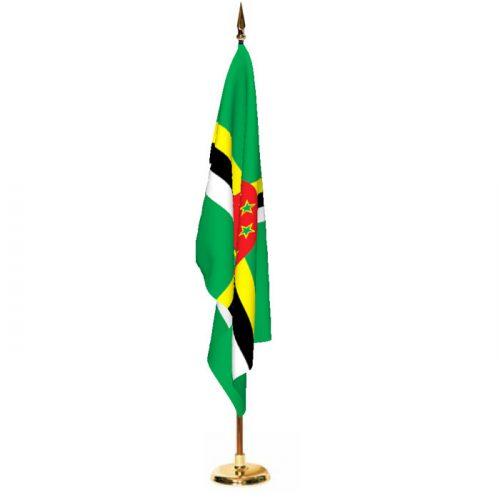 Indoor Dominica Ceremonial Flag Set