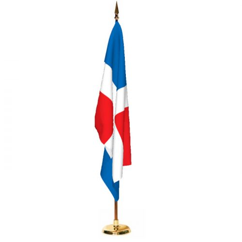 Indoor Dominican Republic Ceremonial Flag Set