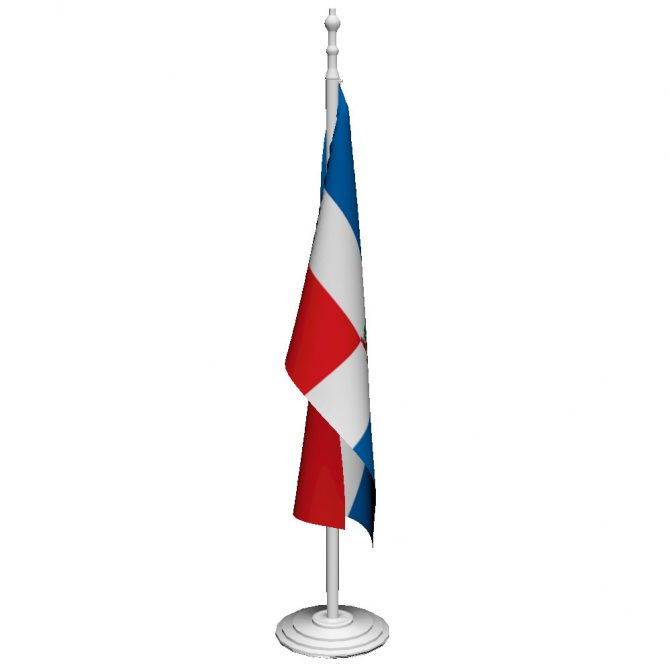 Dominican Republic with Seal Flag