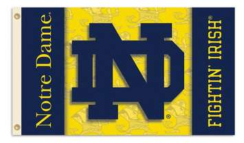 Notre Dame Interlocking Double Sided ND Polyester Flag