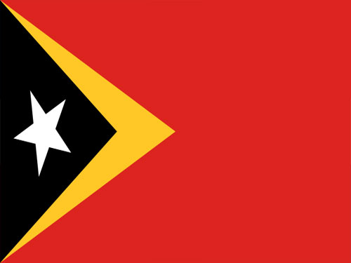 4in x 6in East Timor Flag with Staff and Spear