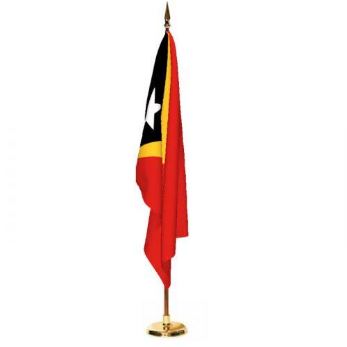 Indoor East Timor Ceremonial Flag Set
