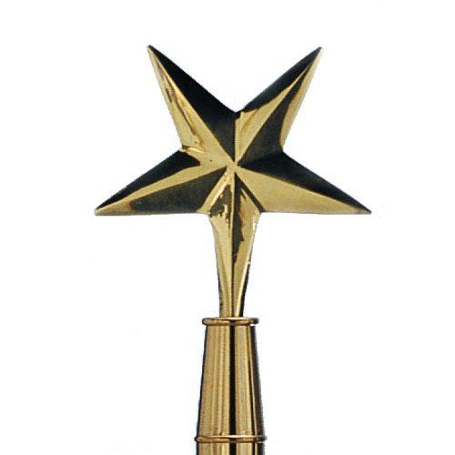 Brass Eastern Star Finial