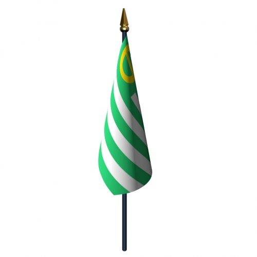 4in x 6in Ecology Flag with Staff and Spear