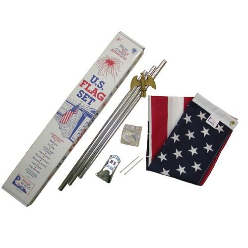 Economy American Flag Set