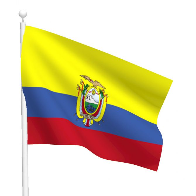 Ecuador with Seal Flag
