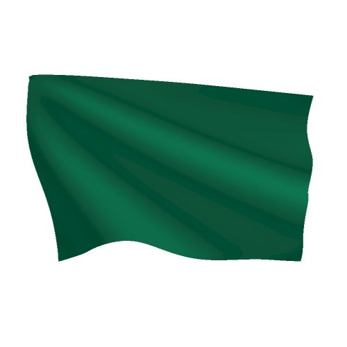Emerald Green Flag