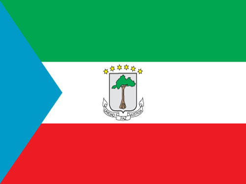 4in x 6in Equatorial Guinea Flag with Staff and Spear