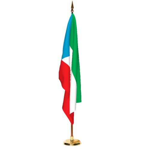 Indoor Equatorial Guinea Ceremonial Flag Set