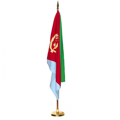 Indoor Eritrea Ceremonial Flag Set