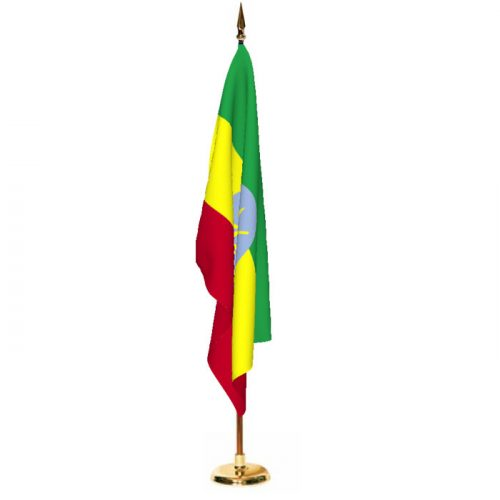 Indoor Ethiopia Ceremonial Flag Set