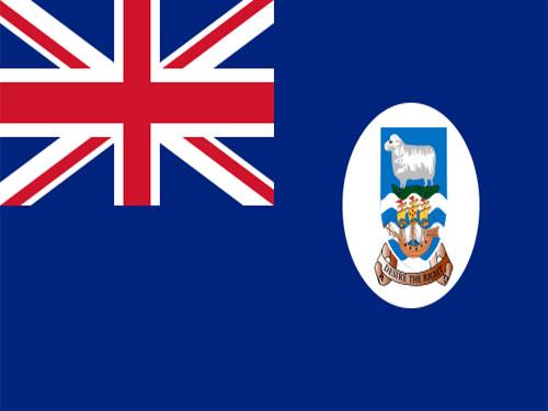 4in x 6in Falkland Islands Flag with Staff and Spear