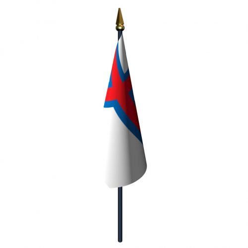 4in x 6in Faroe Islands Flag with Staff and Spear