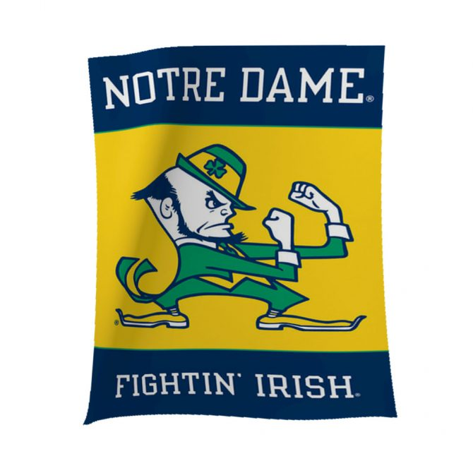 Notre Dame Fightin Irish Leprechaun Banner