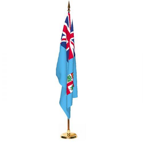 Indoor Fiji Ceremonial Flag Set