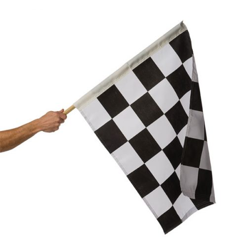 24in x 30in Mounted Checkered Flag
