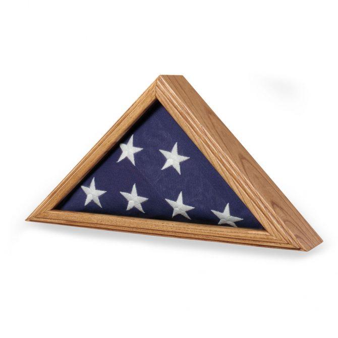 Premium Oak Flag Case for 3ft x 5ft Flag