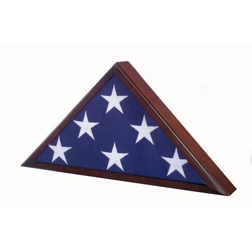 Premium Cherry Flag Case for 5ft x 9-1/2ft (Interment) Flag