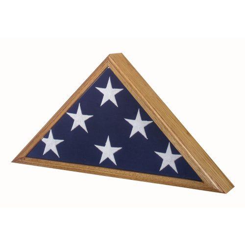 Premium Oak Flag Case for 5ft x 9-1/2ft (Interment) Flag