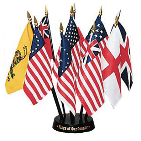 4in x 6in Flags of our Country Desktop Flag Set