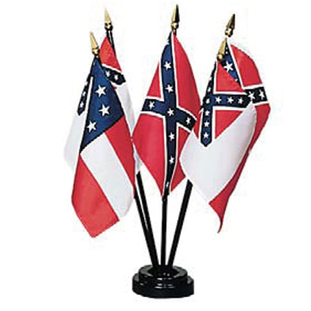 4in x 6in Flags of Confederacy Desktop Flag Set